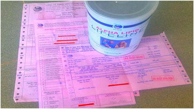 3 hóa đơn kèm theo sữa non alpha lipid chính hãng