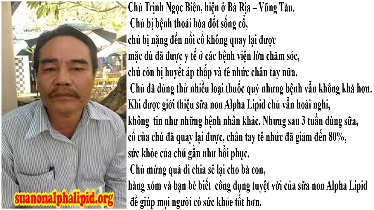 Chú Trịnh Ngọc Biên, hiện ở Bà Rịa – Vũng Tàu
