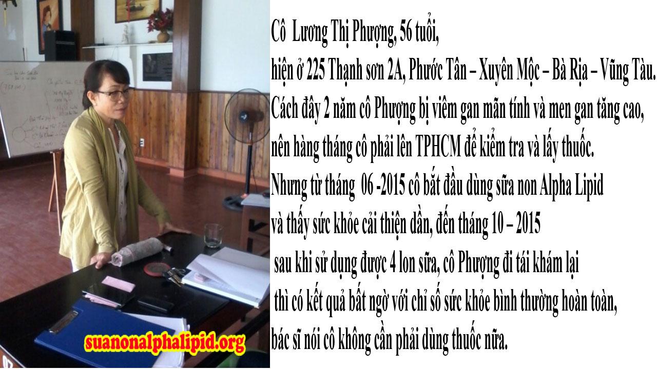 Cô Lương Thị Phượng, 56 tuổi, hiện ở 225 Thạnh sơn 2A, Phước Tân – Xuyên Mộc – Bà Rịa – Vũng Tàu
