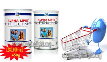 Hộp 450g sữa non Alpha Lipid chính hãng có giá 1.280.000 ngàn đồng