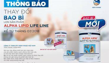 thông báo đổi mẫu mới sữa non alphalipid