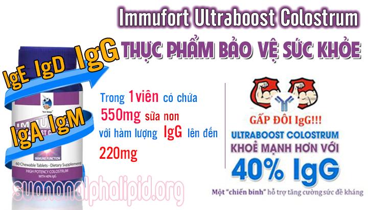 Immufort Ultraboost Colostrum có những thành phần